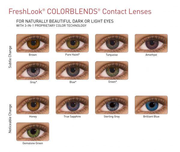Freshlook lentilles de contact de couleur